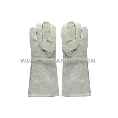 ถุงมือหนังบุสำลี WELPRO ยาว 16 นิ้ว